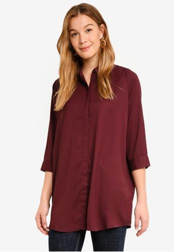 Vero Moda purple Sanne 3/4 Long Shirt E204FAAE341606GS_1