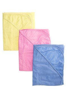 Flannel Blanket With Hood Set of 6