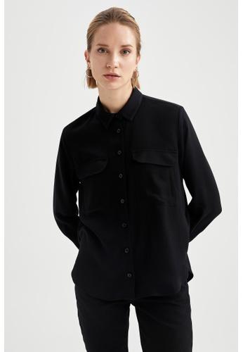 DeFacto black Long Sleeve Viscose Shirt 9A372AA45EAA29GS_1