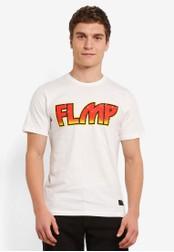 Flesh IMP 白色 Kiss Printed T-Shirt FL064AA0S5TVMY_1