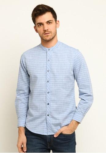 Arnett blue Arnett Baju Kemeja Lengan Panjang Stripe Blue 60B3EAA955D79DGS_1