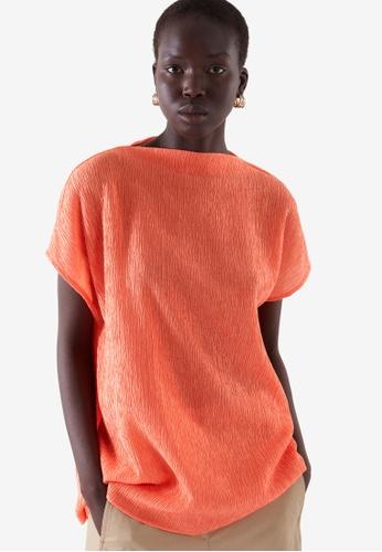 COS orange Crinkled Top 34143AA10A4E41GS_1