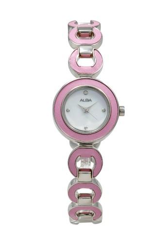 Alba pink and silver ALBA Jam Tangan Wanita - Silver Pink - Stainless Steel - AC3P13 7E3FFAC94F1417GS_1
