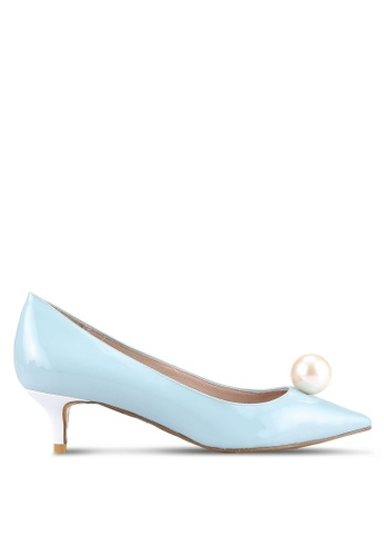House of Avenues blue Pearl Embellished Pumps HO685SH0RRBLMY_1