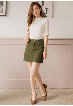 63562a92683af7 28% OFF Tokichoi Plain Color Denim Mini Skirt S  49.90 NOW S  35.90 Sizes S  M L