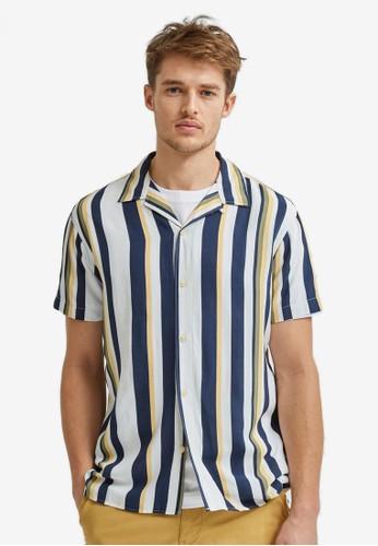 Selected Homme beige Cuban Shirt 4A614AA29B6715GS_1