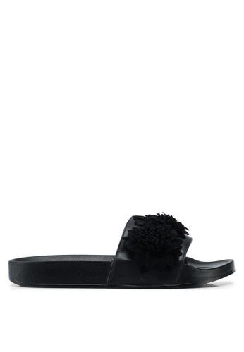 Carlton London black Slides With Floral Detail A7BF7SHC5CF190GS_1