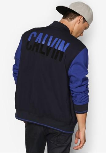 Oduoesprit hk 撞色拼接品牌棒球外套, 服飾, 服飾