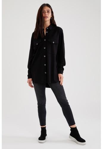 DeFacto black Long Sleeve Shirt Tunic 0C981AA79AD02CGS_1