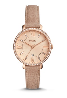 235a23797df0 Fossil beige Fossil Jacqueline Sand Leather Watch FO164AC0RCYVMY 1