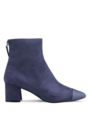 TOPSHOP 藍色 時尚短靴 4352BSH4DD26FEGS_1