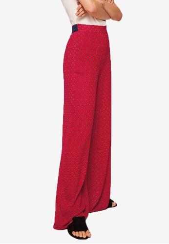 Mango red Printed Culottes 23C82AAF091E16GS_1