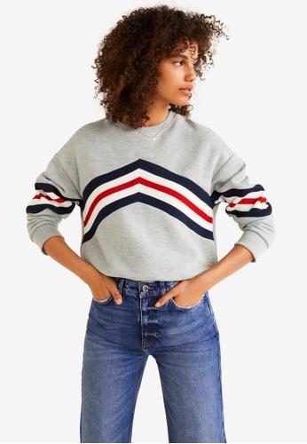 Mango grey Mixed Cotton Sweatshirt ABC0FAA25D001CGS_1