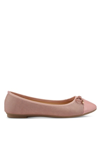 Bata pink Metallic Bow Flats 689F1SH5159EEDGS_1
