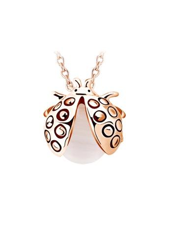 OUXI gold OUXI Beetle Pearl Necklace OU821AC16TXVMY_1