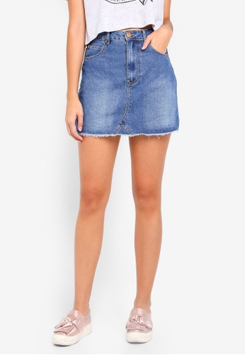 Cotton On blue The Remade Mini Denim Skirt 209D8AA7F43AF1GS_1