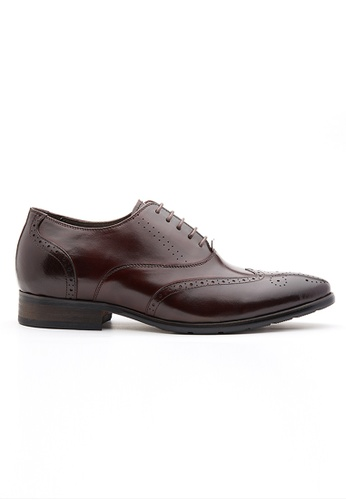 Kings Collection 褐色 布羅迪增高皮鞋 (三吋) D7F61SH3145B1DGS_1