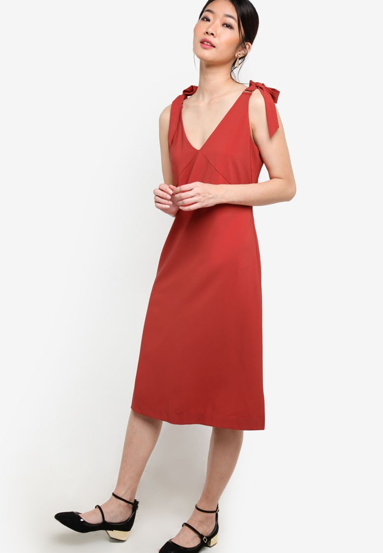 Collection Shoulder Tie Dress