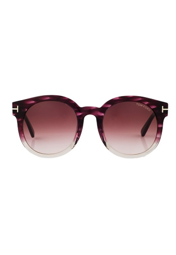 Tom Ford brown TOM FORD Janina Sunglasses FT0435F 83T TO545AC23YPSMY_1