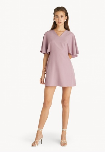Pomelo pink Mini Batwing Sleeves Dress - Pink 80D0AAA50FC2A9GS_1