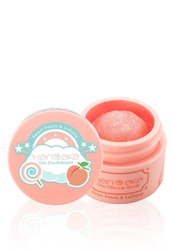 Hanaka pink Hanaka Chu Chu Lip Scrub 15ml [#Sweet Peach & Lollipop] HA727BE0S6Q8MY_1