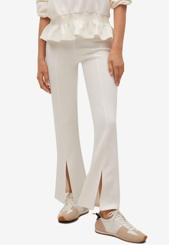 Mango 米褐色 Side Slit Flowy Trousers 4CCF5AA65A7D0AGS_1