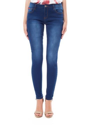 Lee Cooper blue Lee Cooper Women s PEARL CURVY Skinny Jeans enzyme wash  70D7FAAE5B04A8GS 1 ec8342f0af