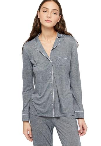 Etam grey Warm Day Pajama Shirt 40D22AA39ADA30GS_1