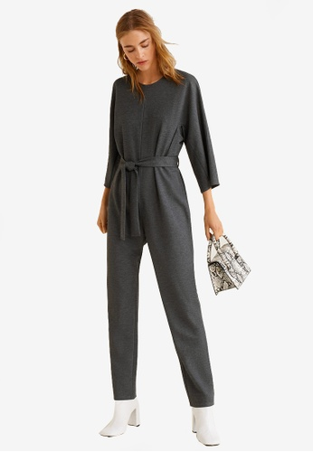 Mango grey Bow Long Jumpsuit 0FF55AA9A896BCGS_1