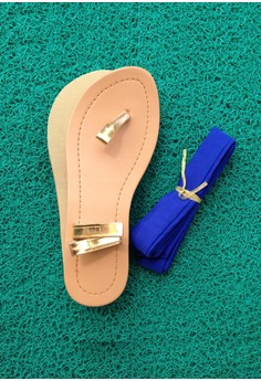 Caca Design-It-Yourself Sandals - Royal Blue Ribbon