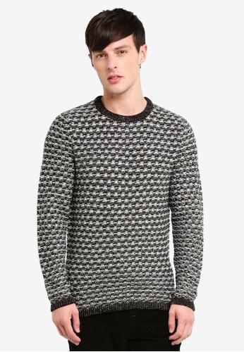 Only & Sons 灰色 圓領針織衫 EFDA8AA016C8BBGS_1