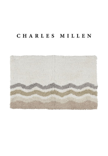 Charles Millen beige 2 Pcs Charles Millen Tyde Tufted Bath Mat with Anti Slip coating 50 x 70cm/ 630g 14531HL9341612GS_1