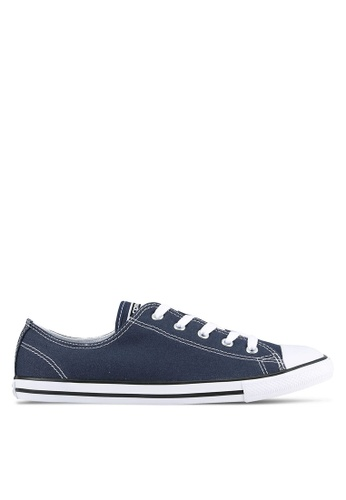 Converse navy Chuck Taylor All Star Dainty Sneakers CO302SH0RXMNMY_1