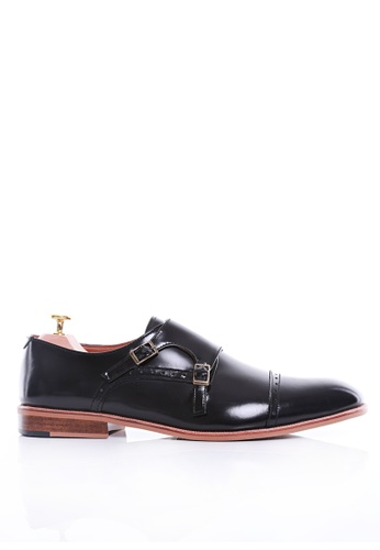 Zeve Shoes black Zeve Shoes Double Monk Strap - Black Polished Leather A5D05SH38609A4GS_1
