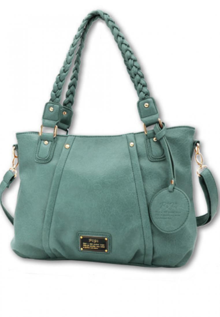 Braid Away Faux Leather Handbag