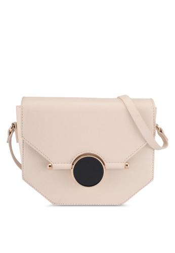 Something Borrowed beige Textured Sling Bag 54753AC0F1B7D2GS_1