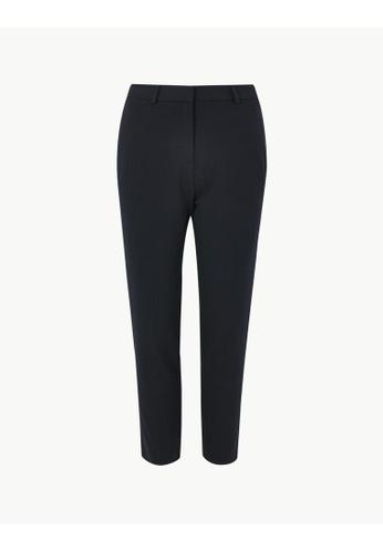 MARKS & SPENCER blue M&S Slim Leg Ankle Grazer Trousers 1F717AA8C8F0C9GS_1