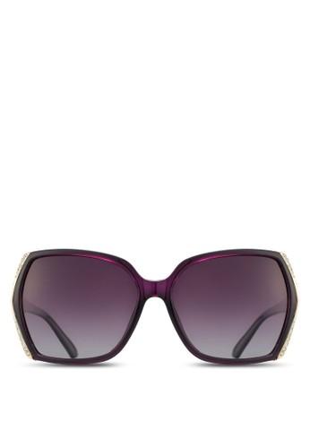 水晶飾矩形框太陽眼鏡, 飾品esprit outlet尖沙咀配件, 飾品配件