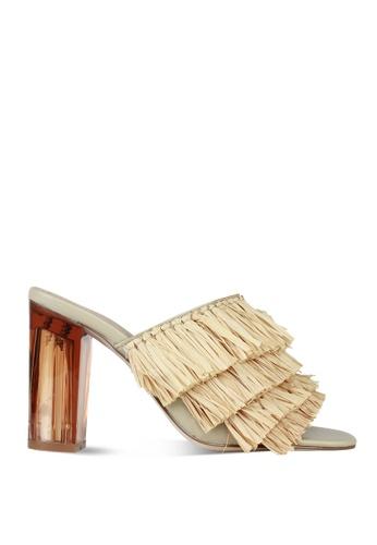 London Rag multi Women's summer Heel Rafia Sandals SH1446 LO360SH0FP7RSG_1