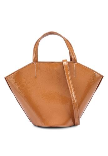 LOWRYS FARM brown Patent Handbag 2957AACCCC4521GS_1