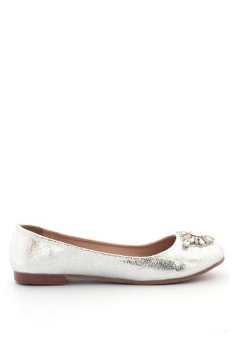 MINKA silver ARIANA Silver Pointy Flats MI006SH25SASID_1