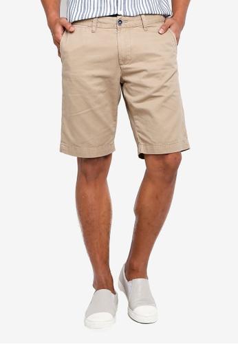 OVS 褐色 經典百慕達短褲 E120EAA8A44C66GS_1