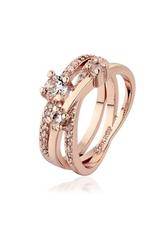 Vermina 18K Rose Gold Plated Ring Size 7