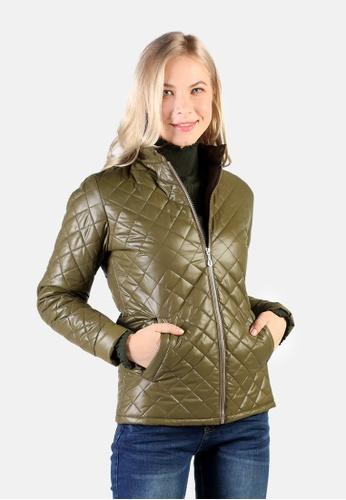 London Rag green Puffer Jacket With Zip Closure B4CE9AA33D24A1GS_1