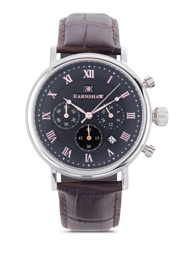 Beaufozalora 台灣門市rt 三顯示皮革錶帶圓錶, 錶類, 飾品配件