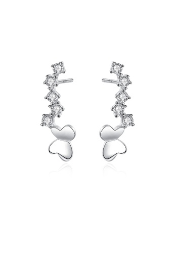 SUNRAIS silver High quality Silver S925 silver butterfly earrings 831BEAC2192416GS_1