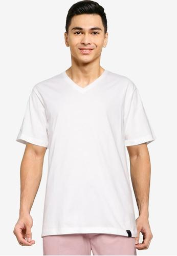 UniqTee white Essential V-Neckline Tee 95547AA3169C5CGS_1