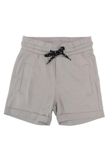 FOX Kids & Baby grey Casual Knit Shorts 67662KA4ECA9B2GS_1