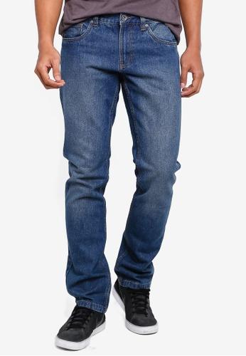 OVS 海軍藍色 丹寧直筒牛仔褲 E2149AA8052F8FGS_1