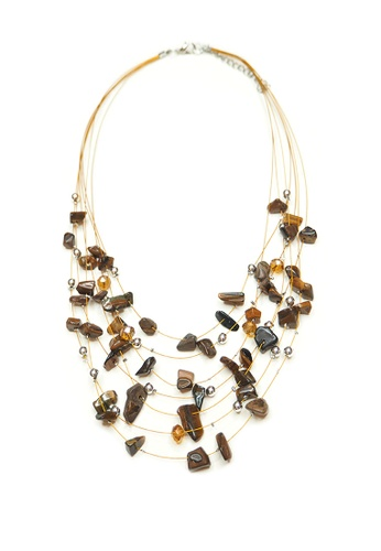 ACEXSPADE brown Phedesta Necklace – Nature 3F5B2ACD1DDF57GS_1